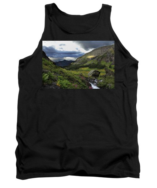 Tank Top featuring the photograph Cascade In Lower Ice Lake Basin by Alan Vance Ley
