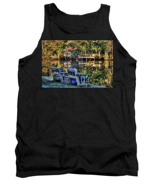 2 Chairs On The Magnolia River Tank Top