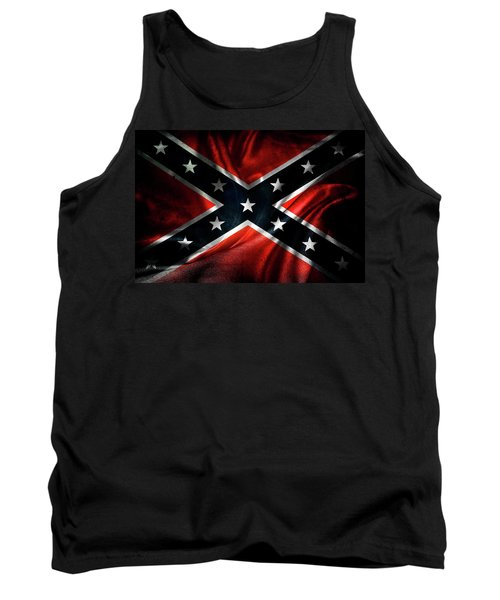 Confederate Flag 1 Tank Top