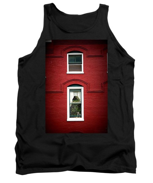 Doggie In The Window Tank Top by Laurie Perry