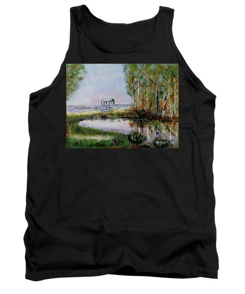 Tank Top featuring the painting Fairhope Al. Duck Pond by Melvin Turner