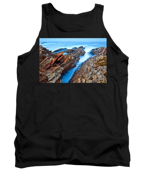 Eternal Tides - The Strange Jagged Rocks And Cliffs Of Montana De Oro State Park In California Tank Top