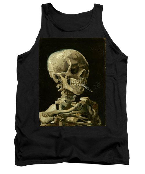 Head Of A Skeleton With A Burning Cigarette Tank Top