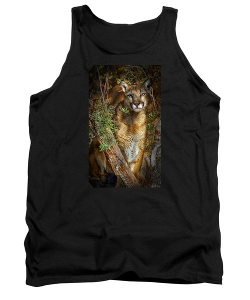 Tank Top featuring the photograph Hiding by Elaine Malott