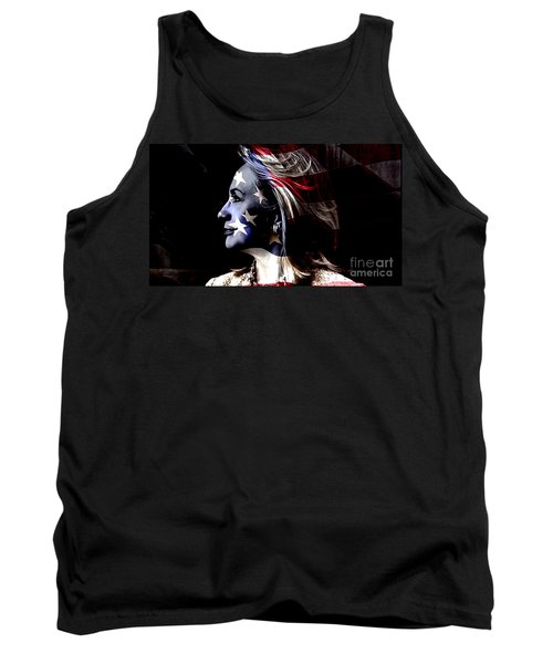 Tank Top featuring the mixed media Hillary 2016 by Marvin Blaine