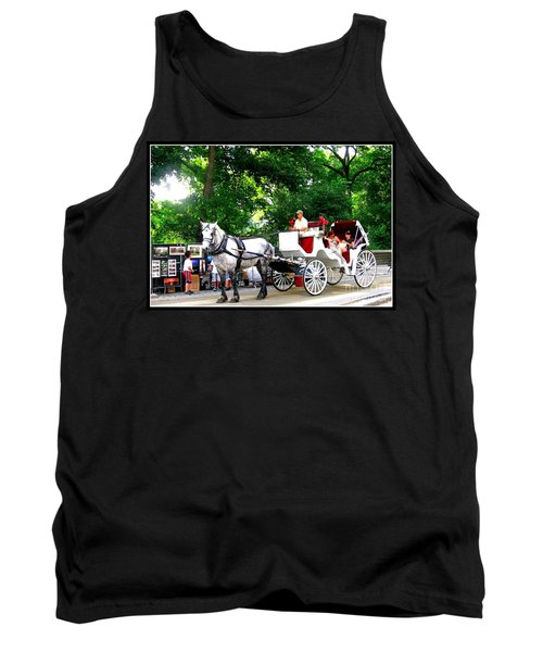 Horse And Carriage In Central Park Tank Top