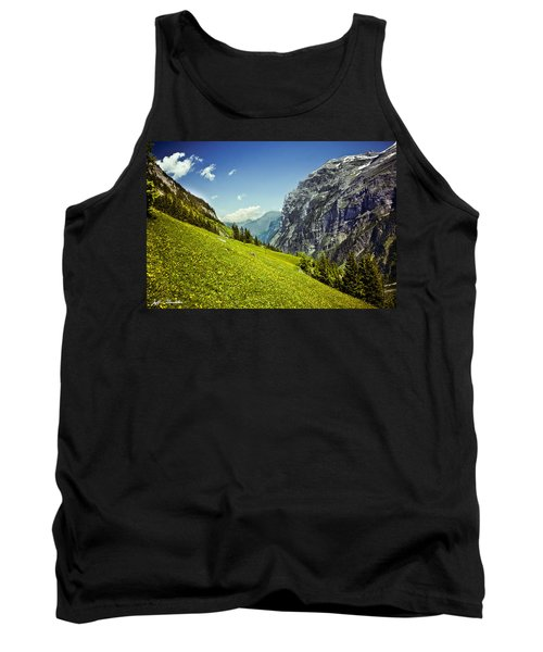 Tank Top featuring the photograph Lauterbrunnen Valley In Bloom by Jeff Goulden