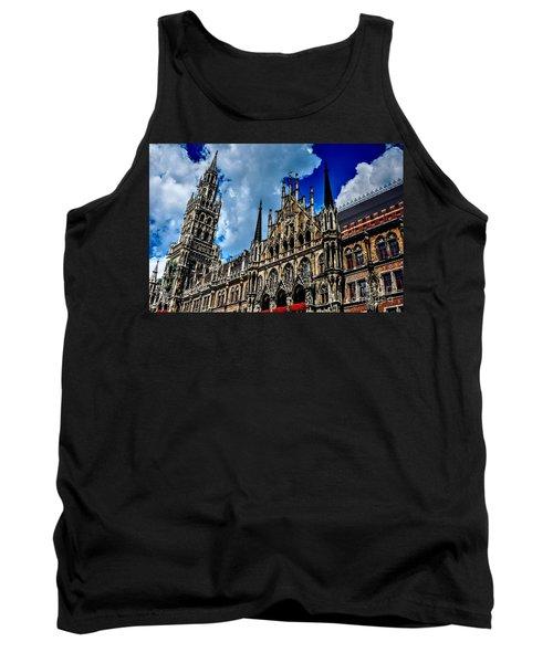 Tank Top featuring the photograph Marienplatz In Munich by Joe  Ng