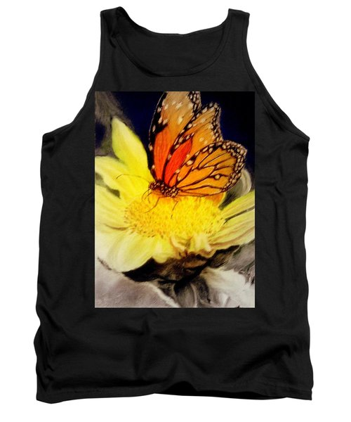 Tank Top featuring the pastel Monarch Resting Sold Pastel by Antonia Citrino