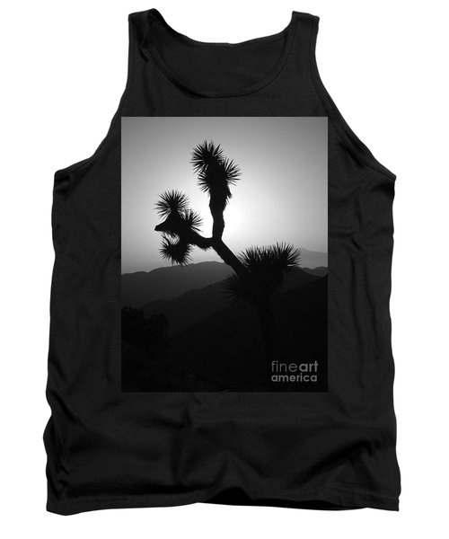 New Photographic Art Print For Sale Joshua Tree At Sunset Black And White Tank Top