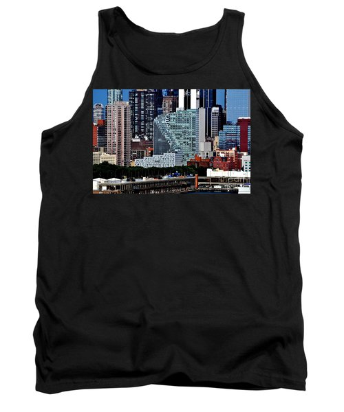 New York City Skyline With Mercedes House Tank Top
