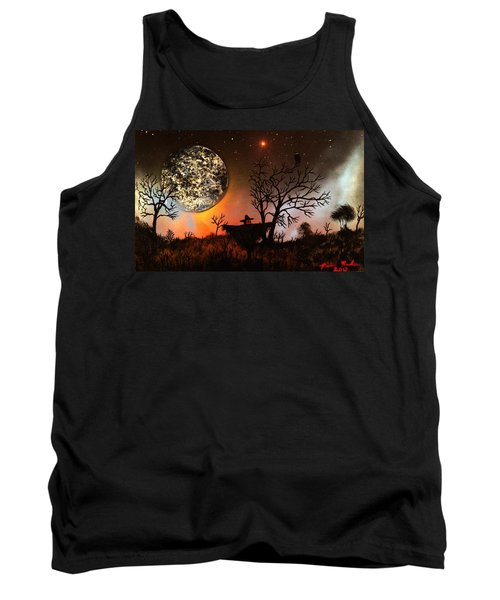 Night Of The Scarecrow  Tank Top by Michael Rucker