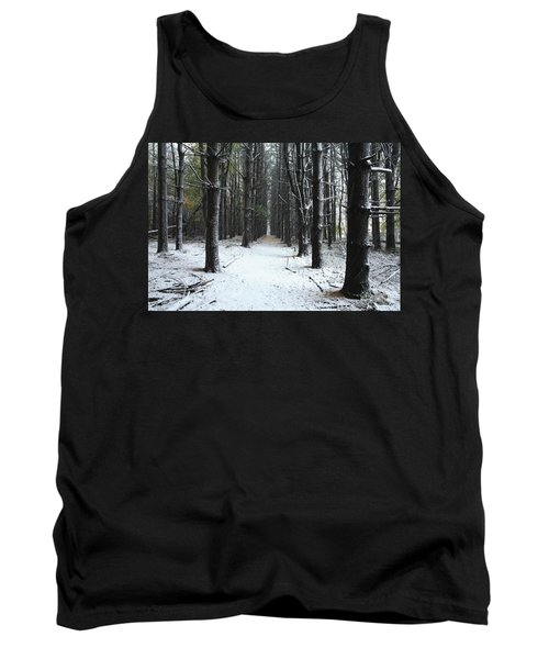 Pines In Snow Tank Top