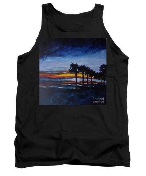 Sunset In St. Andrews Tank Top by Jan Bennicoff