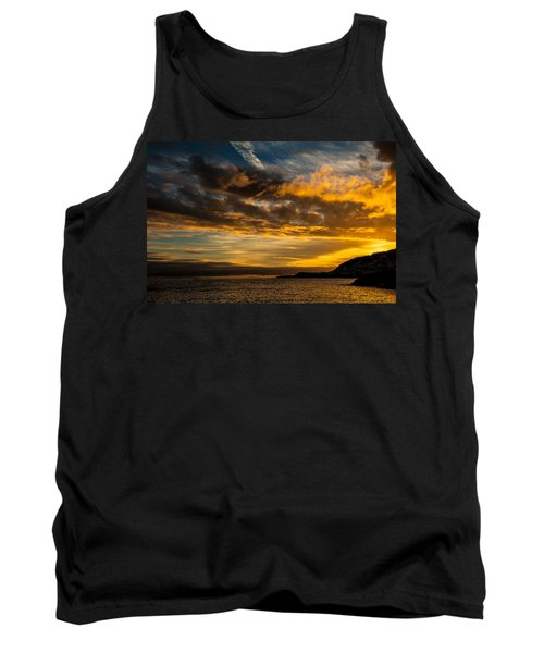 Sunset Over The Ocean  Tank Top