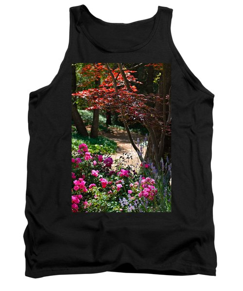 Tank Top featuring the photograph The Garden Path by Michele Myers