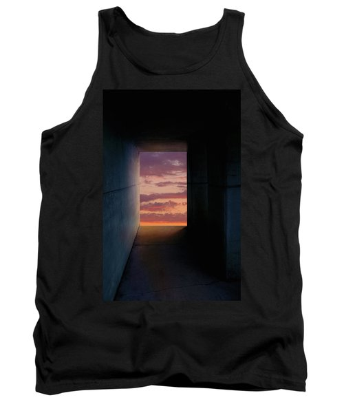 Tunnel With Light Tank Top by Melinda Fawver