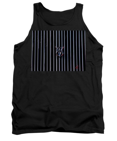 Tank Top featuring the photograph V8 Grill by Chris Thomas