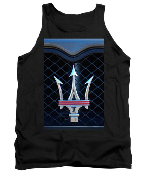 2005 Maserati Gt Coupe Corsa Emblem Tank Top by Jill Reger