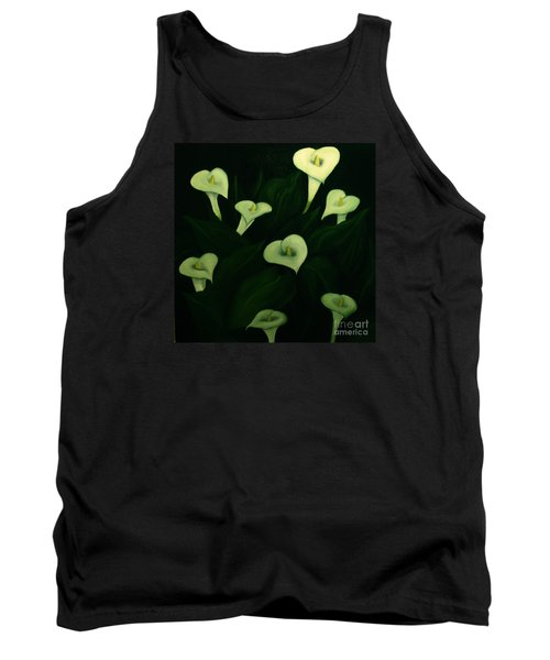 Tank Top featuring the painting Calla Lilies by John Stuart Webbstock