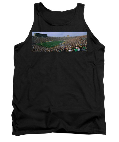 High Angle View Of A Football Stadium Tank Top