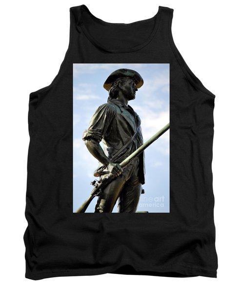 Minute Man Statue Concord Massachusetts Tank Top
