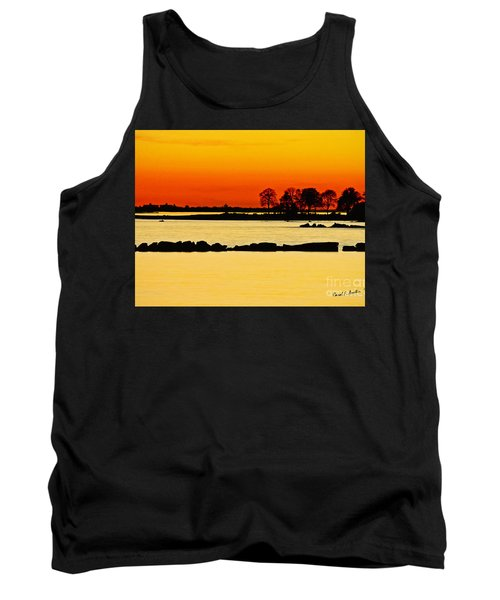Ocean Beach Sunset Tank Top by Carol F Austin