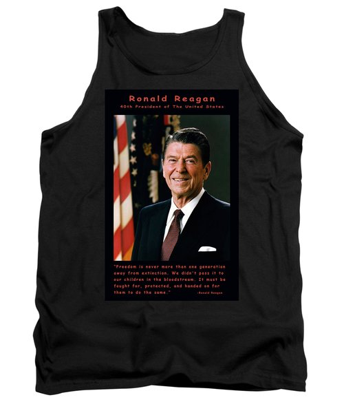 President Ronald Reagan Tank Top