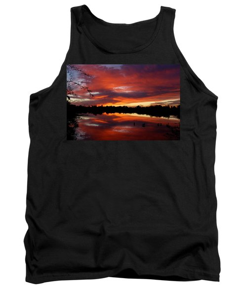 Tank Top featuring the photograph Riparian Sunset by Tam Ryan