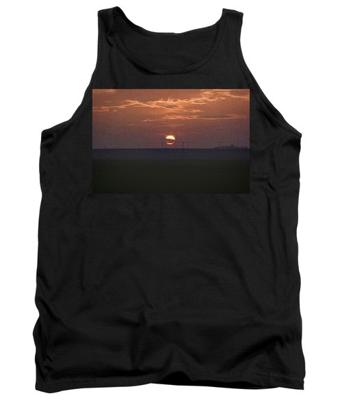 The Setting Sun In The Distance With Clouds Tank Top
