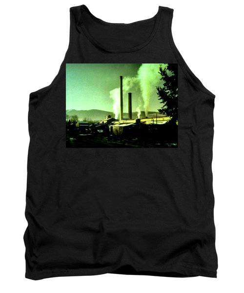 Tank Top featuring the painting Twin Peaks by Luis Ludzska