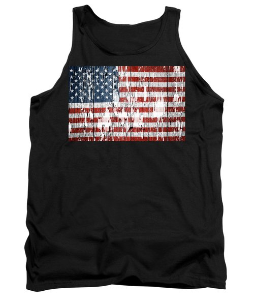 American Flag Tank Top by Les Cunliffe