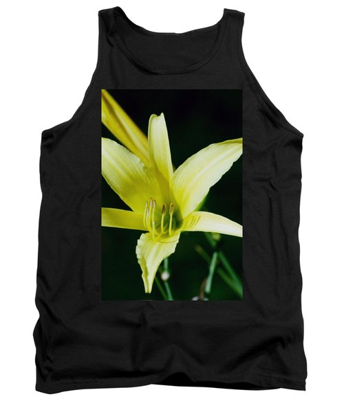 Tank Top featuring the photograph 3d Yellow Daylily by Belinda Lee