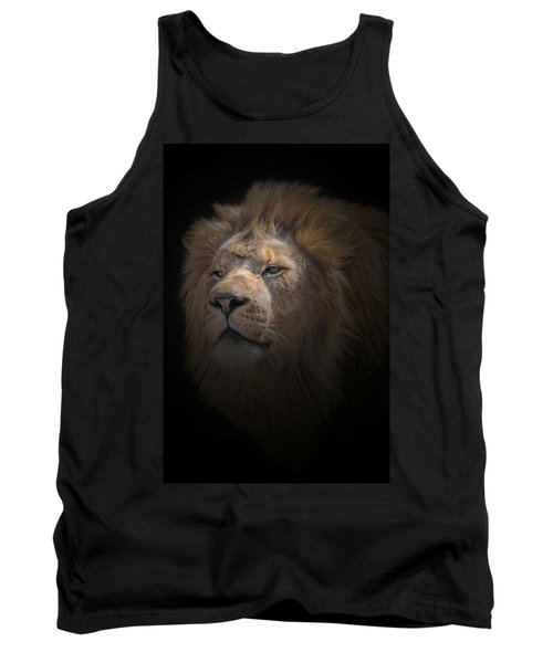 Tank Top featuring the photograph African Lion by Peter Lakomy