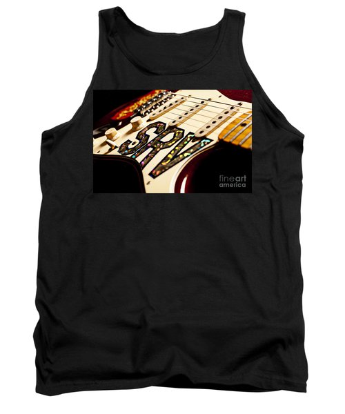 Replica Stevie Ray Vaughn Electric Guitar Artistic Tank Top by Jani Bryson