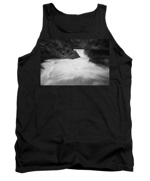 The Soteska Vintgar Gorge In Black And White Tank Top