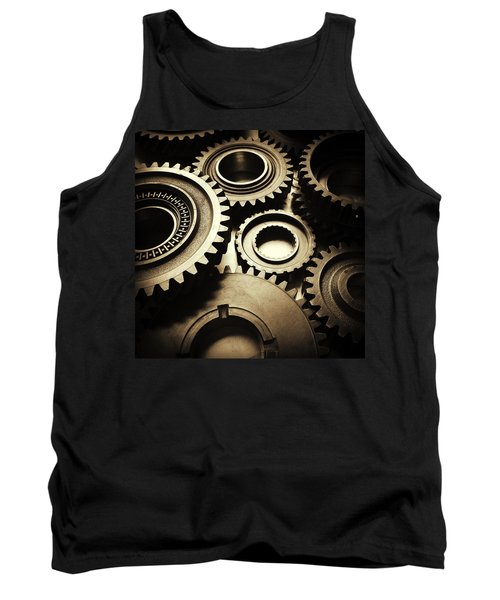 Cogs Tank Top by Les Cunliffe
