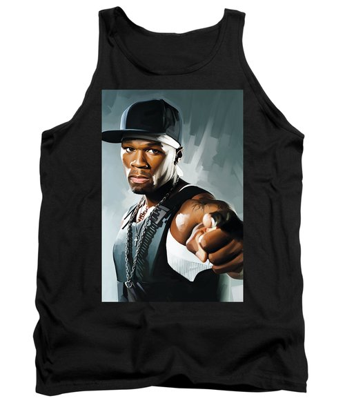 50 Cent Artwork 2 Tank Top