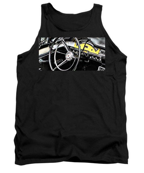 Old Car Tank Top featuring the photograph '57 Ford Fairlane 500 by Aaron Berg
