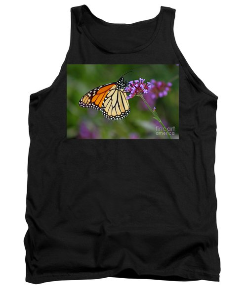 Monarch Butterfly In Garden Tank Top