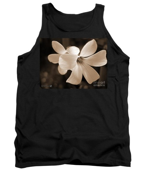 Oxalis Triangularis Or Burgundy Shamrock Tank Top by J McCombie