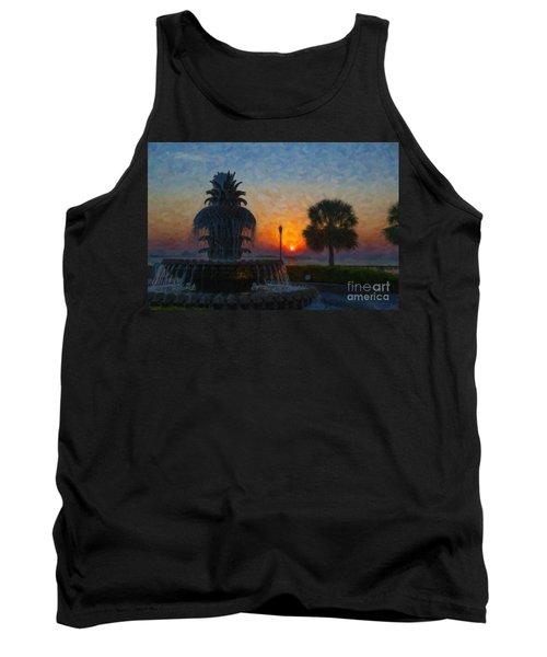 Pineapple Fountain At Dawn Tank Top