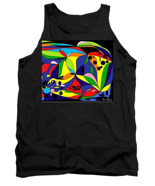 Tank Top featuring the digital art Design By Loxi Sibley by Loxi Sibley