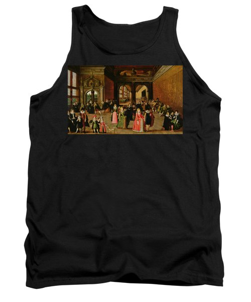 A Ball During The Reign Of Henri Iv Oil On Panel Tank Top