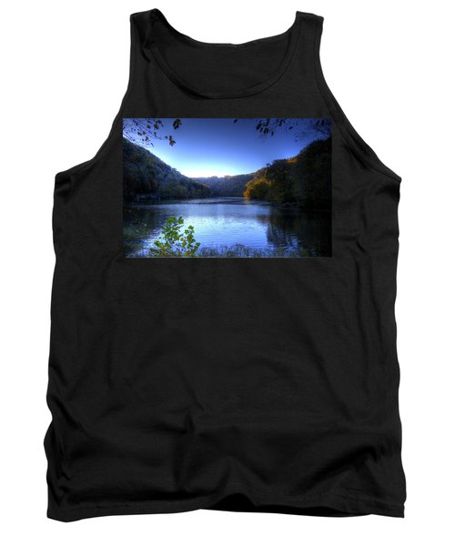A Blue Lake In The Woods Tank Top by Jonny D