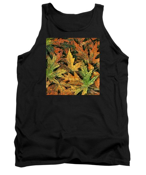 Tank Top featuring the painting A Carpet Of  Falling Leaves by Dragica  Micki Fortuna