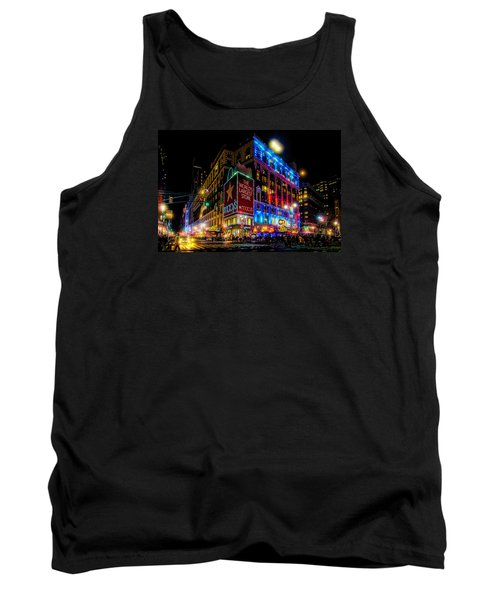 A December Evening At Macy's  Tank Top by Chris Lord