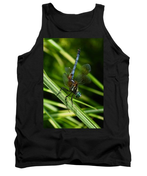 Tank Top featuring the photograph A Dragonfly by Raymond Salani III