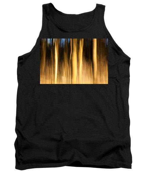 Tank Top featuring the photograph A Fiery Forest by Davorin Mance