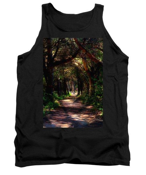 A Forest Path -dungeness Spit - Sequim Washington Tank Top